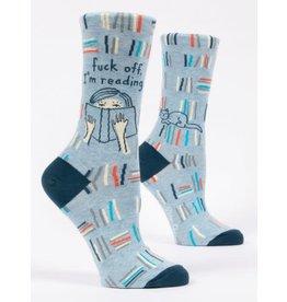 blue q F Off i'm Reading Socks