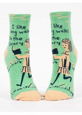 blue q Library Ankle Socks