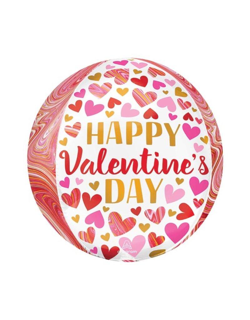 Valentine Marble Orbz Balloon