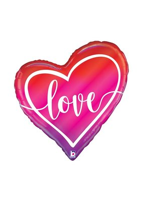 Opal Ombre Love Heart Balloon