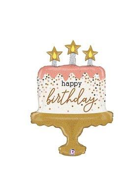 Burton and Burton Sparkle Cake Birthday Balloon