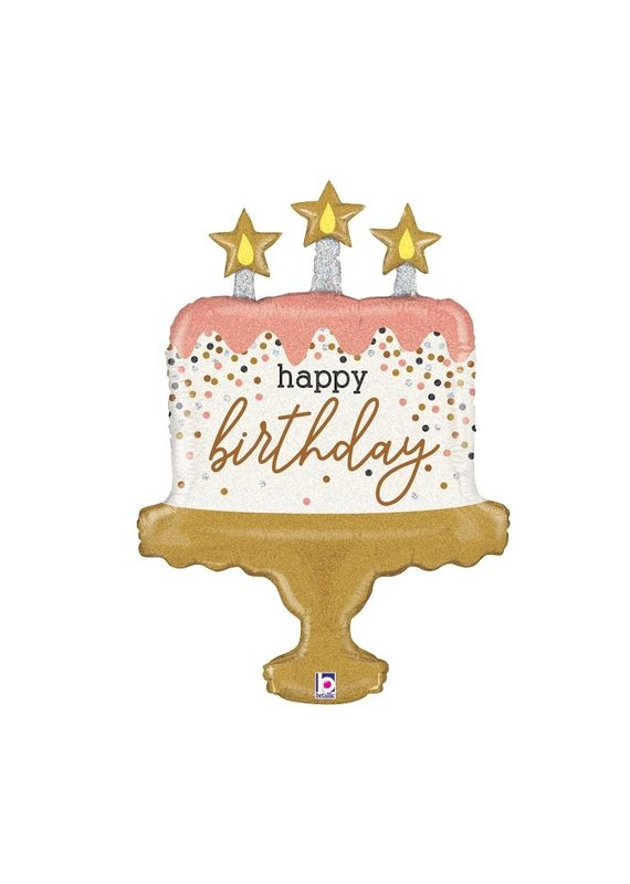 Burton and Burton Sparkle Cake Birthday Balloon