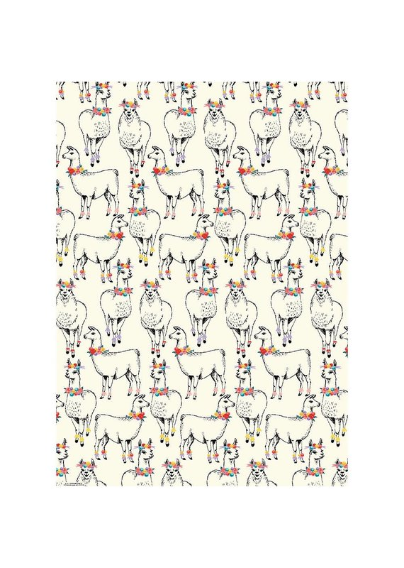Paper Source Llama Flat Wrap Sheet