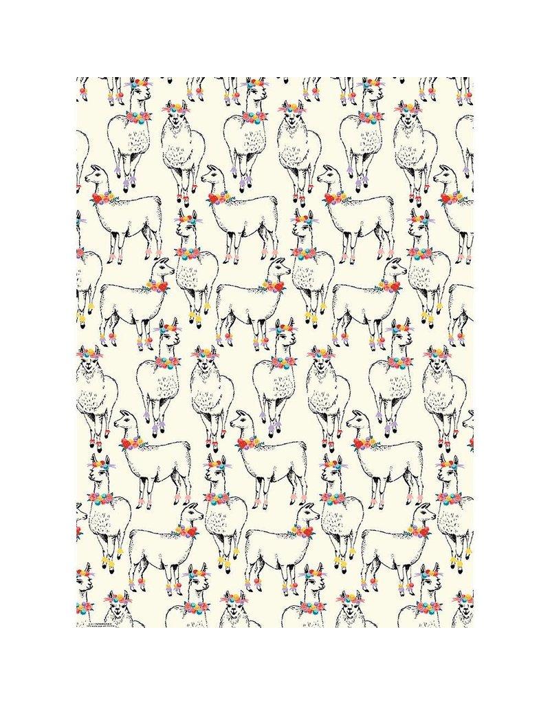 Paper Source Llama Flat Wrap Sheet