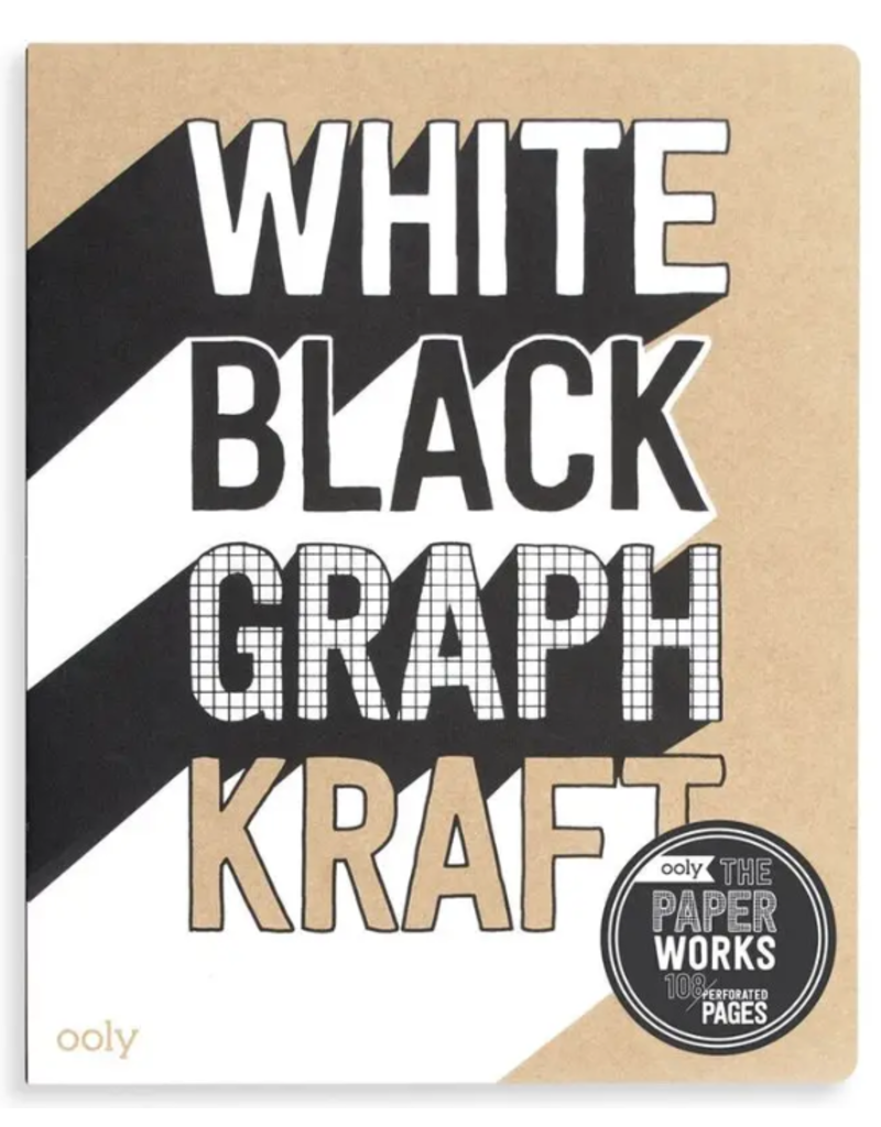 Ooly Paper Works Sketchbook--black, white, kraft