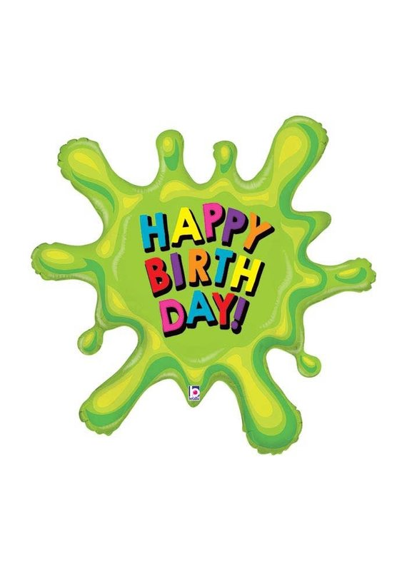 Green Slime Birthday Balloon