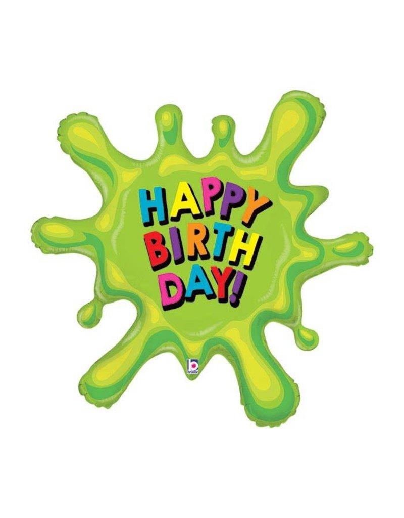 Green Slime Birthday Balloon