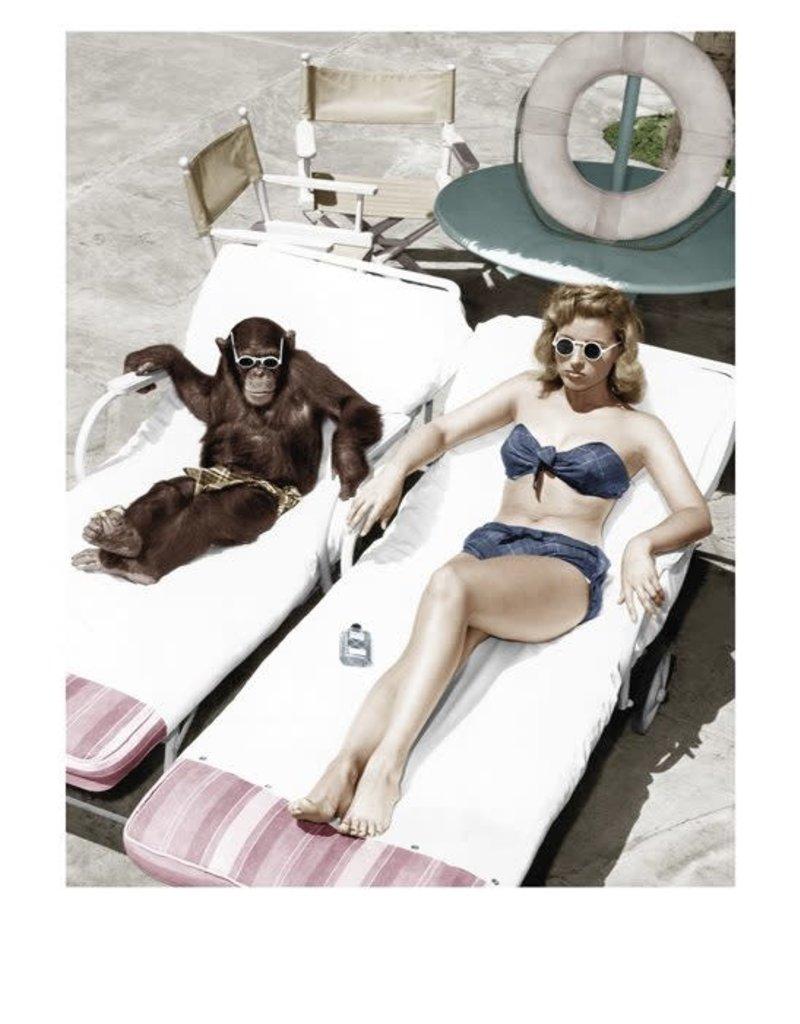 Palm Press Woman and Chimp
