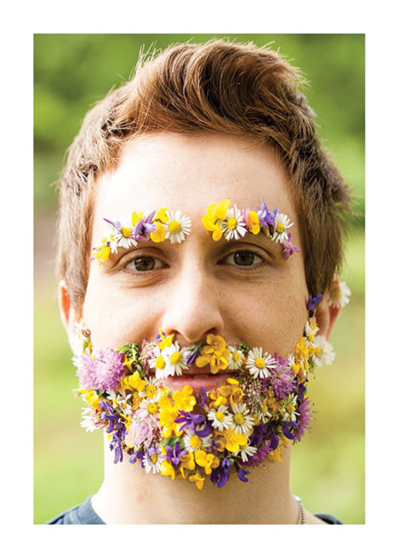 Palm Press Flower Beard