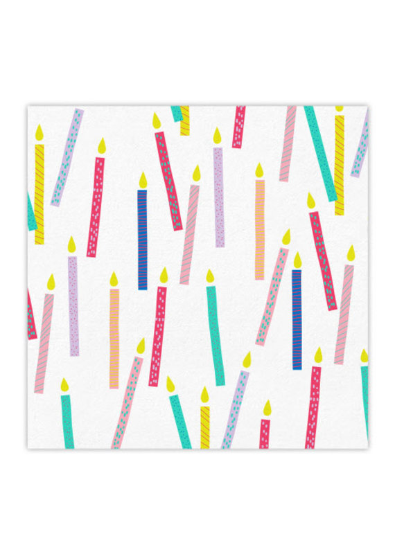 Slant Candles Beverage Napkin
