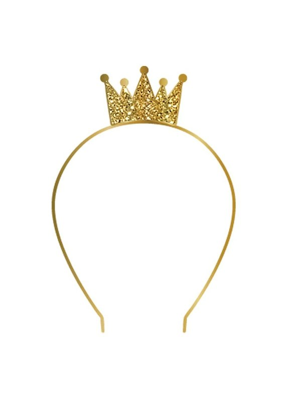 Slant Gold Crown Birthday Headband
