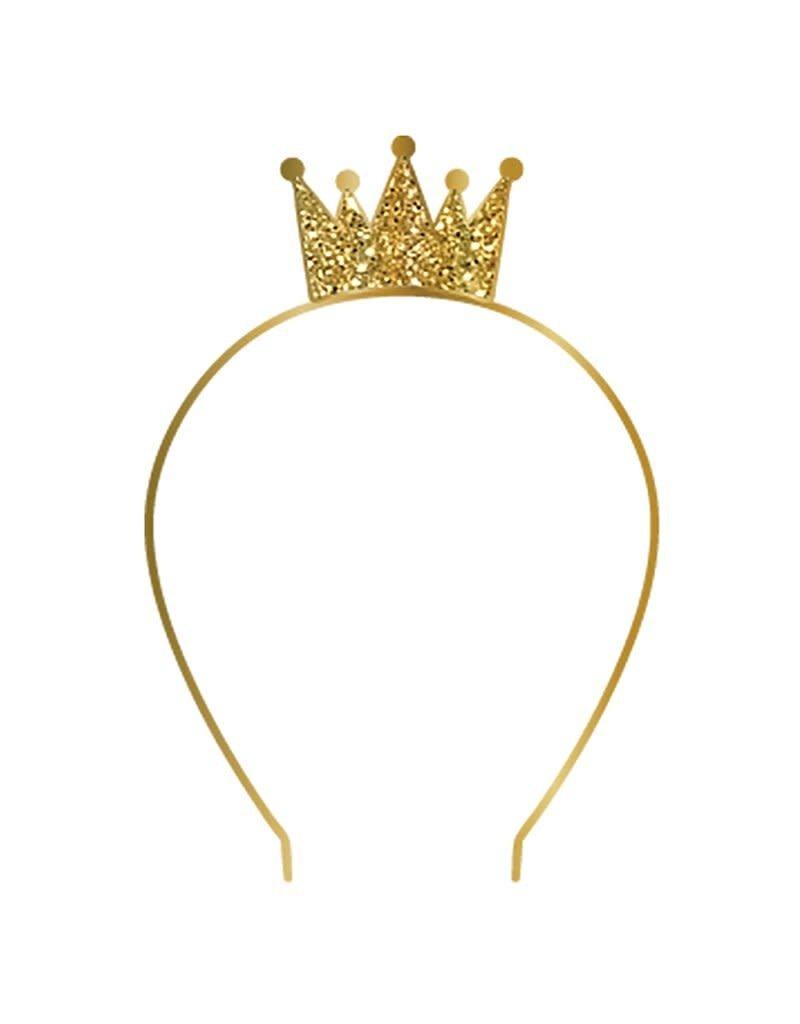 Slant Gold Crown Birthday Headband