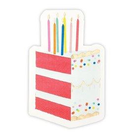 Slant Birthday Cake Napkins