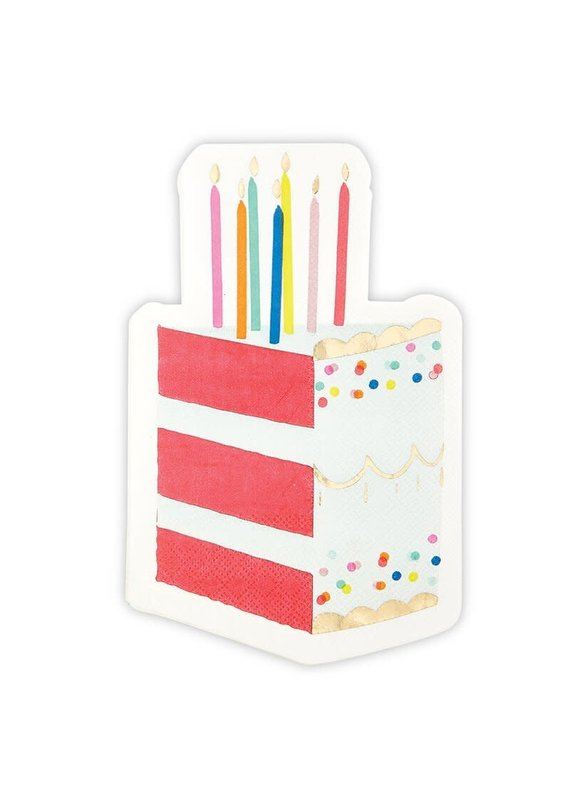 Slant Birthday Cake Napkins