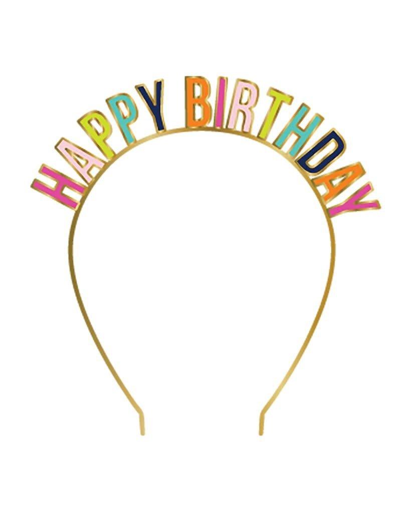 Slant Happy Birthday Headband