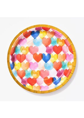 Paper Source Watercolor Heart Cocktail Plate