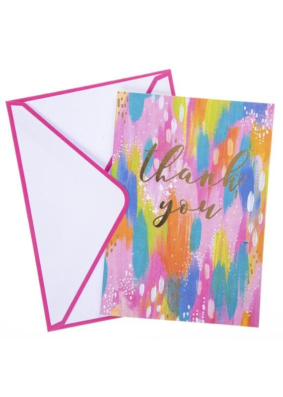 graphique de France Brush Strokes Boxed Note Cards