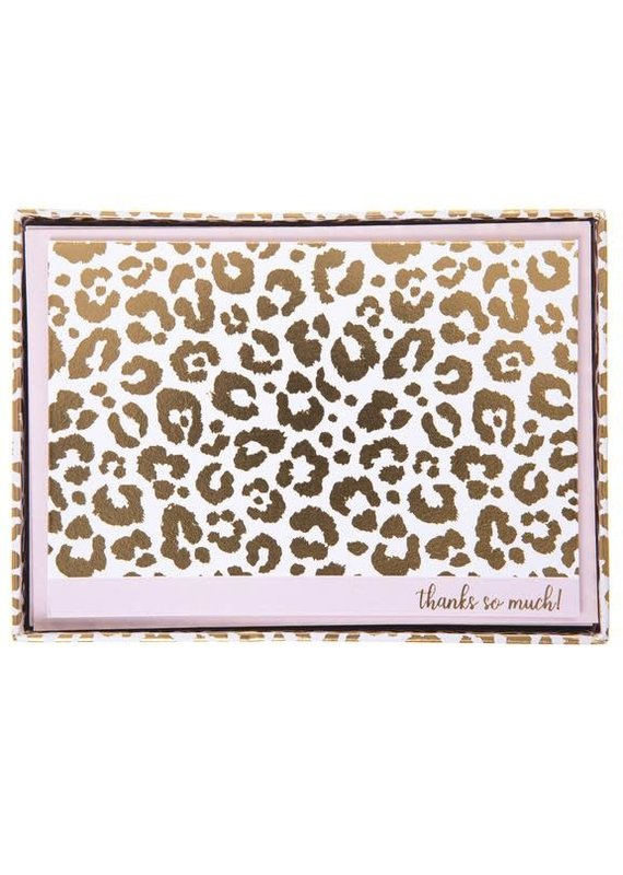 graphique de France Cheetah foldover Boxed Notes