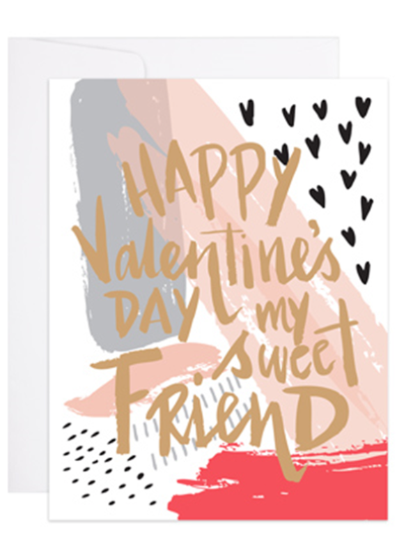 9th Letterpress Painted Valentine