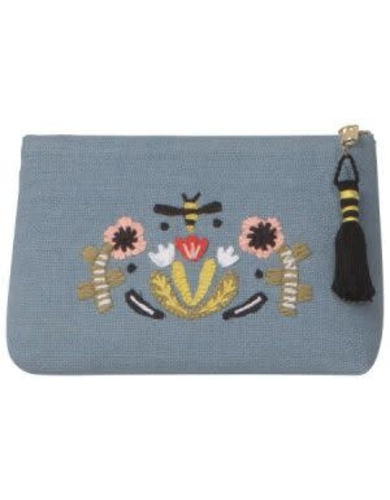 Danica Studio Beehive Embroidered Pouch