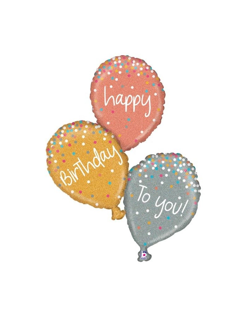 Anagram Metallic Sparkling Birthday Balloon