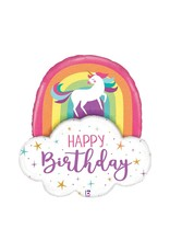 Anagram Unicorn and Rainbow Birthday Balloon