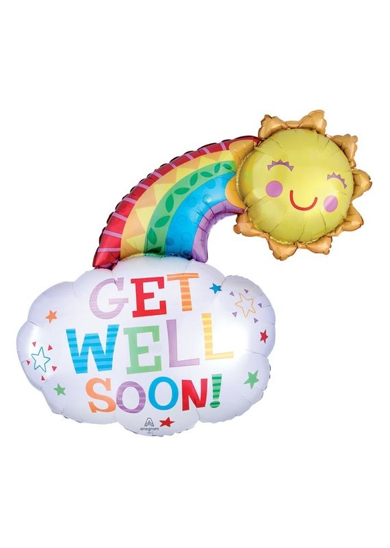 Get Well Rainbow Balloon