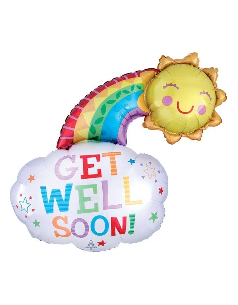 Get Well Rainbow Balloon