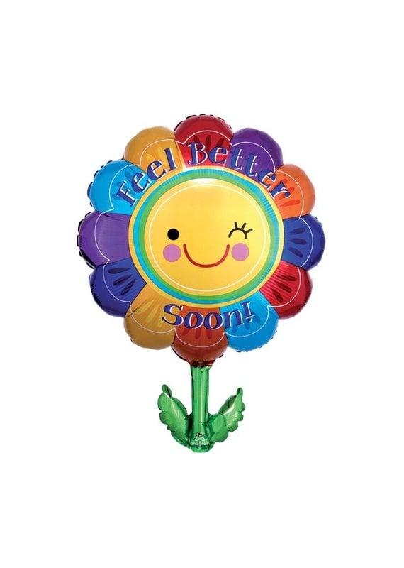 Anagram Feel Better Soon Flower Balloon