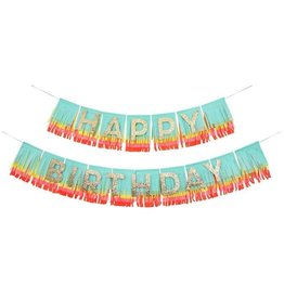 Meri Meri Rainbow Happy Birthday Fringe Garland