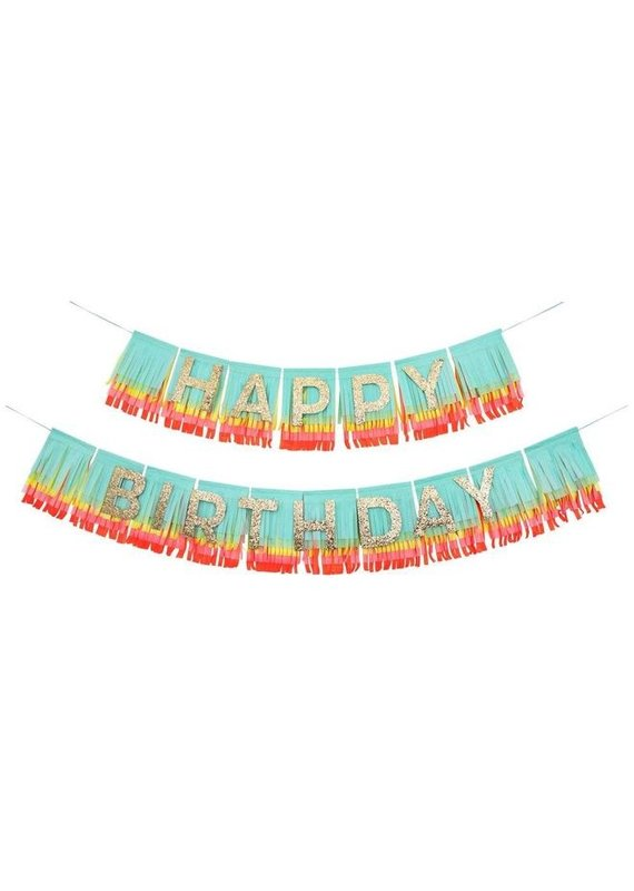 Meri Meri Rainbow Happy Birthday Fringe Garland