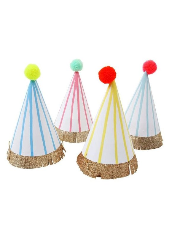 Meri Meri Stripe Pompom Party Hats