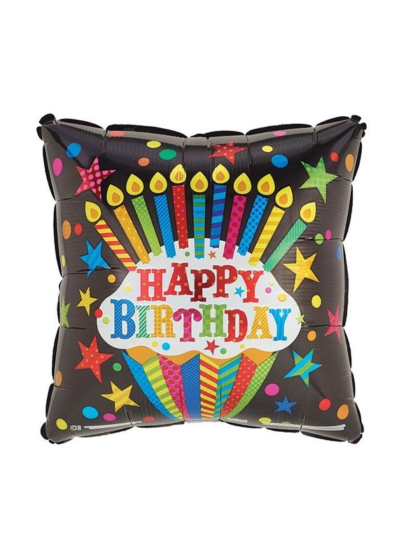 Square Birthday Rainbow Balloon