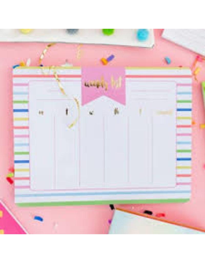 Taylor Elliott Designs Striped Weekly List Pad Planner
