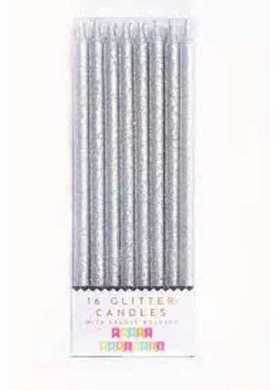 Party Partners Party Partners Silver Glitter Candles