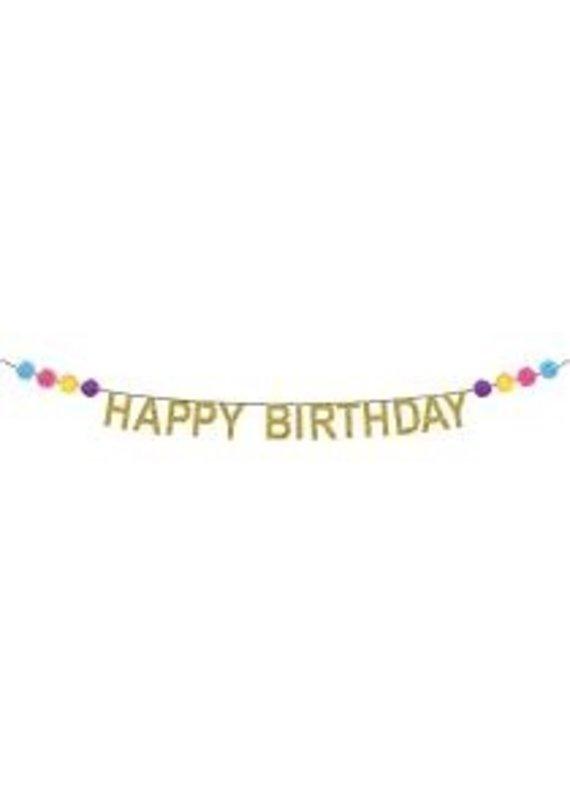 Party Partners Pom Pom Birthday Banners