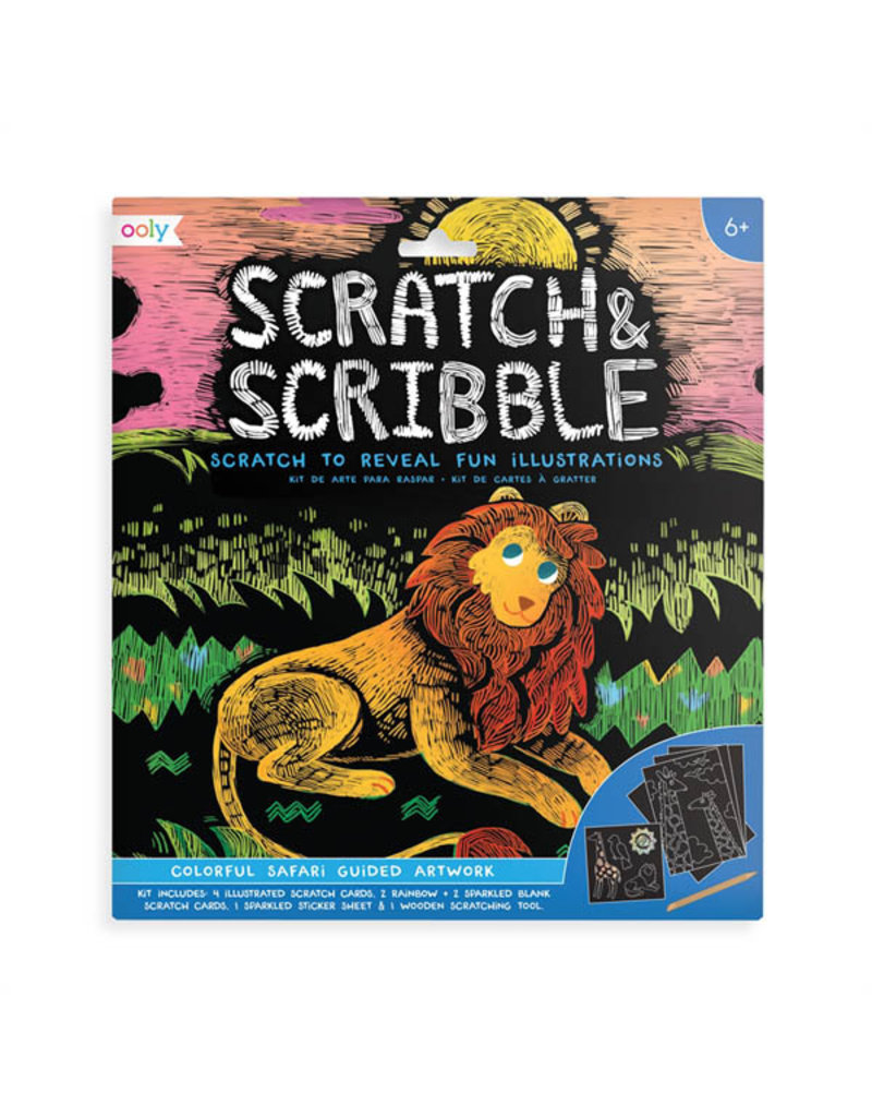 Ooly Scratch & Scribble Colorful Safari