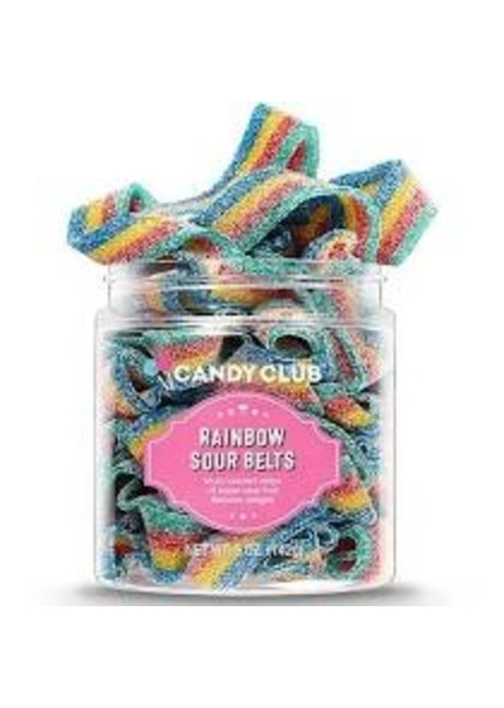 Candy Club Rainbow Sour Belts Small