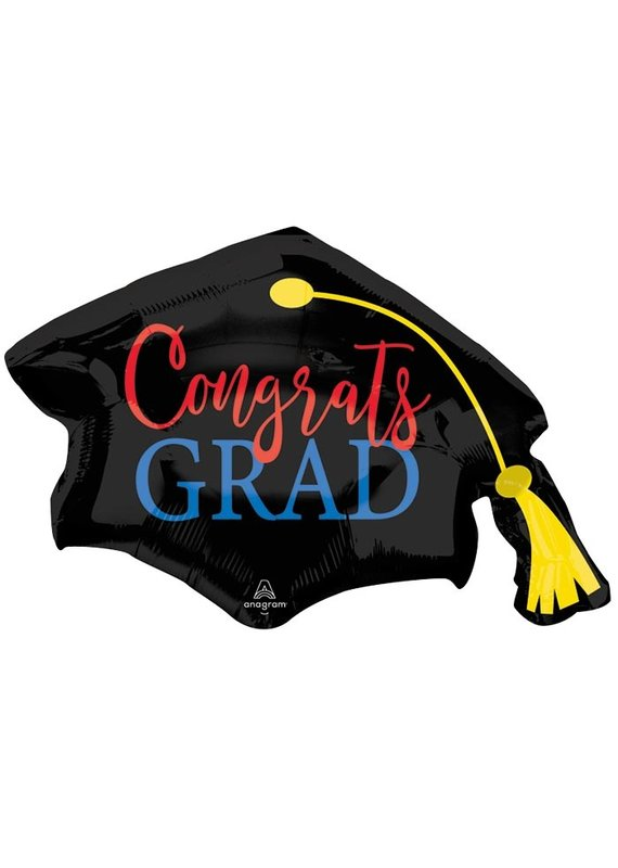 Congrats Grad Red Blue Balloon