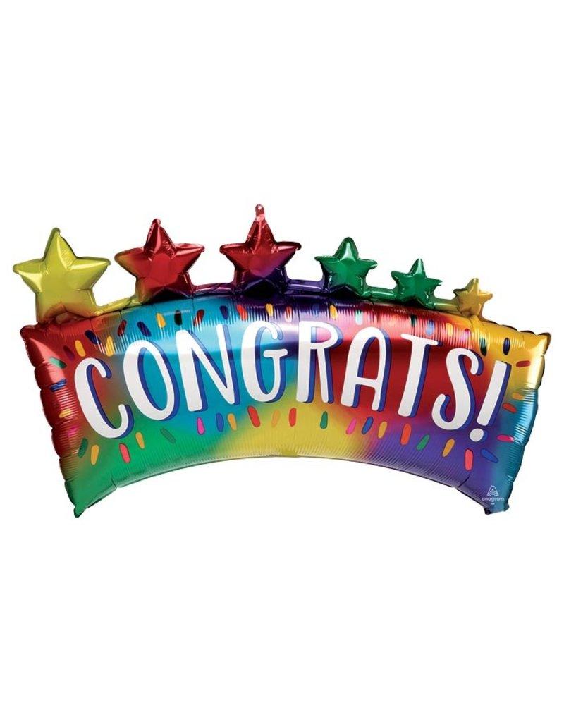 Congrats Star Banner Balloon