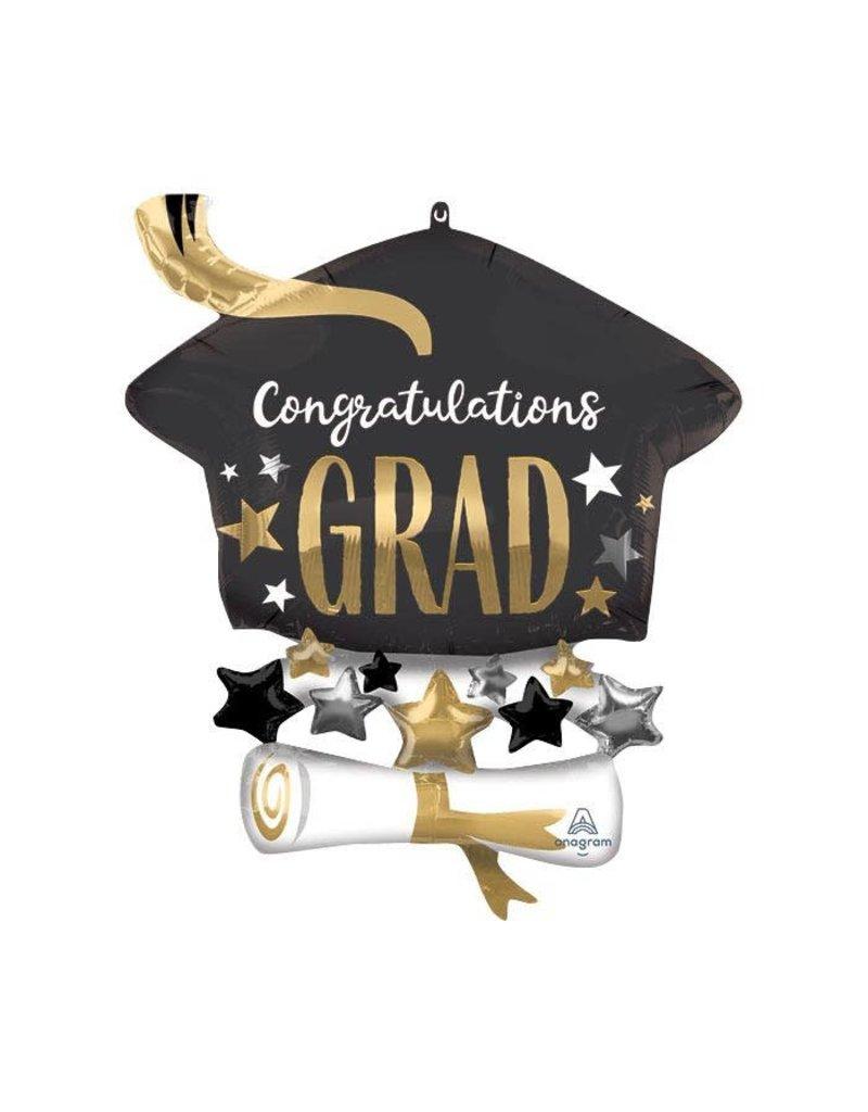 Congrats Grad Cap Diploma Balloon