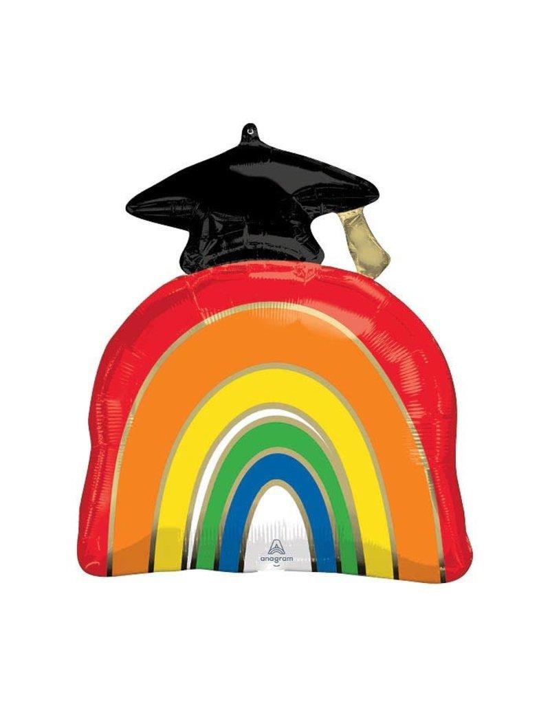 Rainbow Graduation Balloon