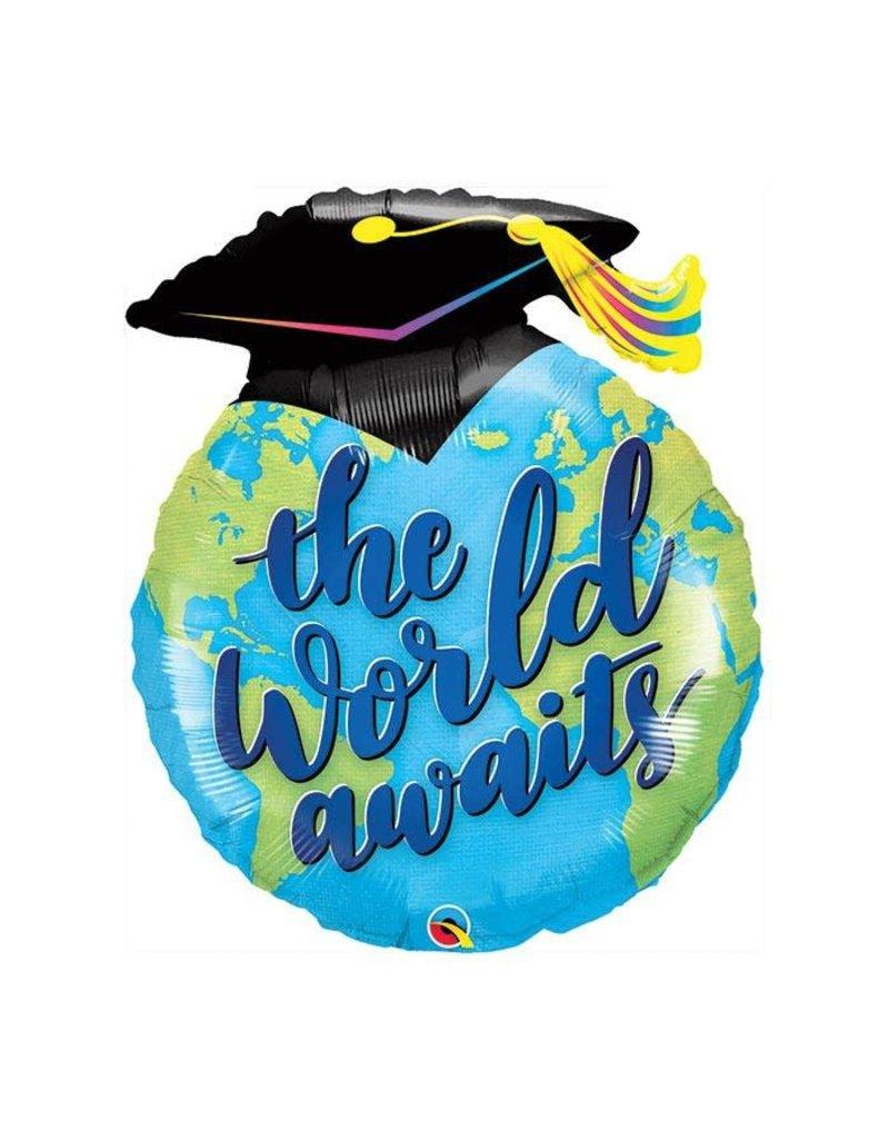 100 Percent Beads The World Awaits Grad Balloon