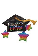 Congrats Grad Holographic Balloon