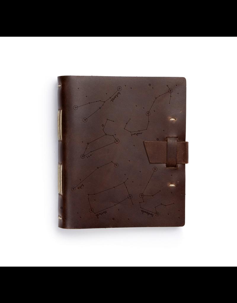 Rustico Zodiac Night Sky Leather Journal