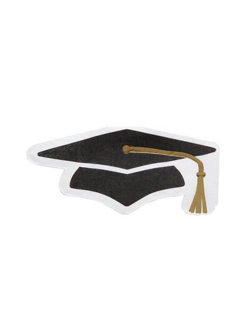 Slant Die Cut Grad Hat Napkin