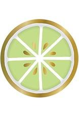 Slant Lime Slice Paper Plate