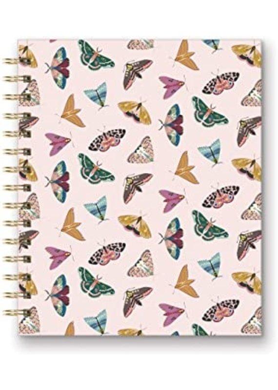 Studio Oh Tabbed Spiral Notebook - Moths