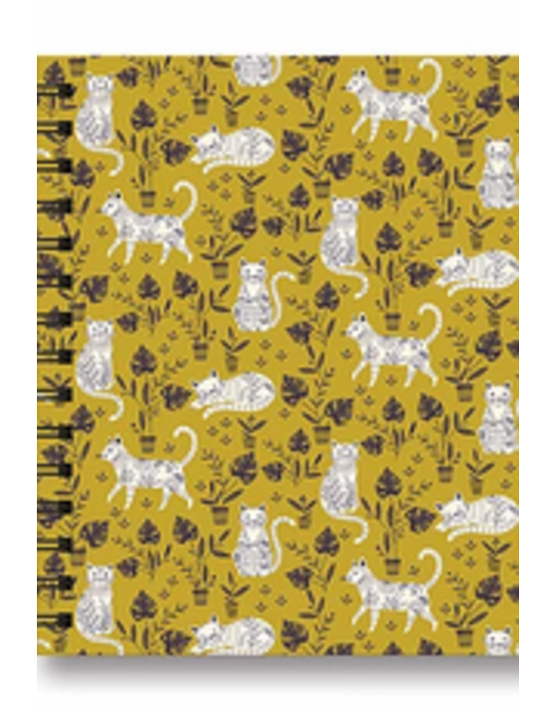 Studio Oh Tabbed Spiral Notebook - Cats