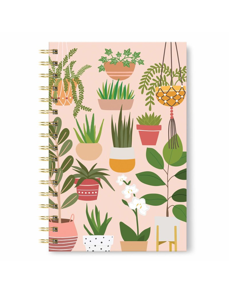 Studio Oh Spiral Notebook - Houseplants